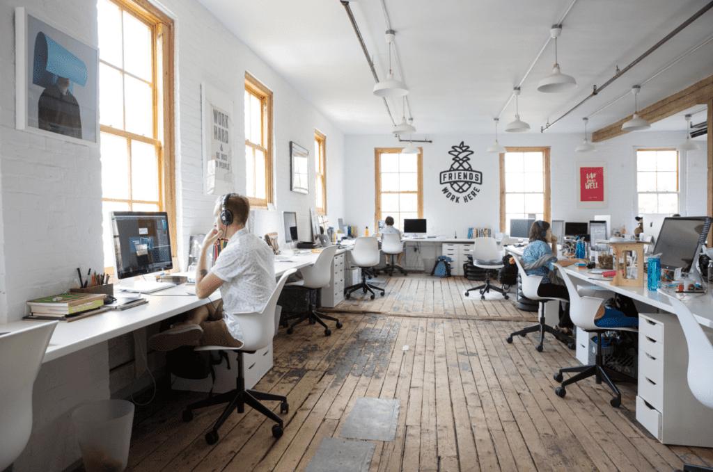 friends work here coworking space in brooklyn, new york