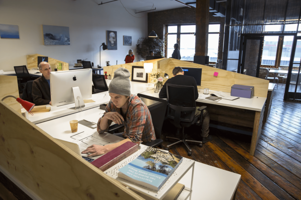 shared coworking space in brooklyn, new york