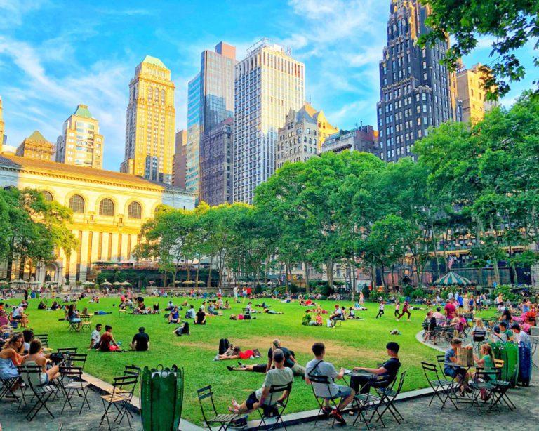 bryant park, new york city, office spaces near parks
