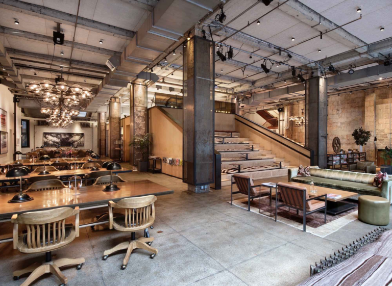 nyc expensive coworking space modern industrial
